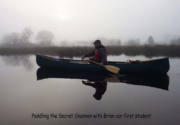 River Shannon with Adventure Gently, canoe skills class