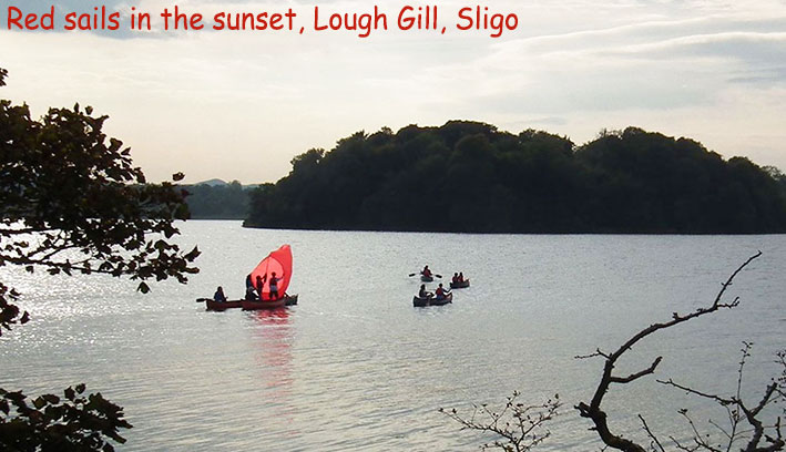 red sails in the sunset, lough gill, co. sligo